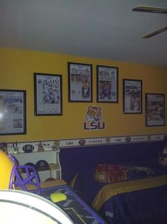 Ordered the Posters from The Advocate and then framed them. The LSU sticker comes from fathead.com