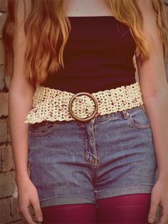 plus size crochet belt pattern - made with plastic bags Crochet Belt, Knit Or Crochet, Crochet Crafts, Yarn Crafts, Beginner Crochet Projects, Crochet For Beginners, Sewing Projects, Plastic Bag Crochet, Knitting Patterns