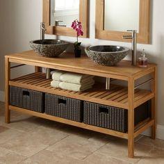 Comment Fabriquer Un Meuble Lavabo En Bois Pins Blancs Meuble - Fabriquer son meuble de salle de bain