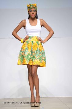 Its African inspired. African Inspired Fashion, African Print Fashion, Africa Fashion, Fashion Prints, African Prints, African Print Skirt, African Fabric, African Dresses For Women, African Women