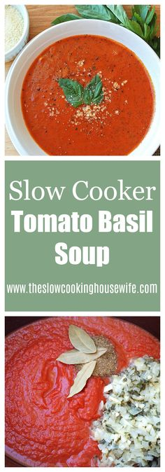 An easy and delicious  crockpot creamy tomato soup!