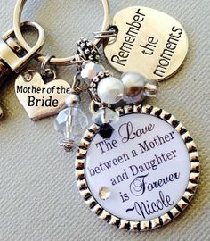 MOTHER of the BRIDE gift PERSONALIZED love you to the moon, Mother of groom gift, wedding quote, I love you today and always, thank you gift...