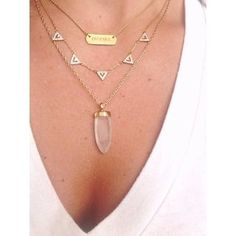 Layered Quartz Gold Chain Necklace   Aria Pendant Necklace   Stella & Dot   www.stelladot.com/laurenmcdavid