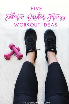 5 effective outdoor fitness workout ideas for weight loss and getting in shape. These activities are fun and don't even feel like work!