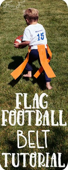 I love this easy to follow flag football flag and belt tutorial. It's really simple to make and perfect for getting kids outside running around. Such a great sewing DIY idea for sports.