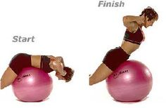 Back Extensions on Sissel Ball | Anchor feet firmly and lie face down with the exercise ball under your pelvis and ribs. Bend your arms and place your hands by your ears. Slowly lift your torso until just your pelvis touches the ball. Do not excessively arch through the back. Release and repeat. For more intensity, hold a Sissel medicine ball to your chest. As you lower your ribs toward the ball, extend the medicine ball in front of you.