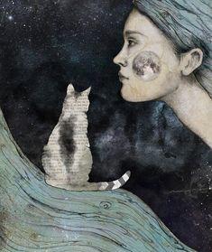 Into the night 🐱🐱🐱🌘 #mixedmedia #collage #blvart #artist_features #artoftheday #catdecor #cat #illustration #drawing #instaart #insta_artgallery #creativitysprout #collageartist #illustrations #catart #night #catillustration #whimsical #mixedmediaart #artist_features #artwork #catartist #catlover #inkefy #moon #graphics
