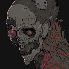 Snake by Ching Yeh. Wallpaper Animes, Arte Cyberpunk, Cyberpunk Character, Robot Concept Art, Futuristic Art, Ex Machina, Creature Concept, Dark Fantasy Art, Art Reference Poses