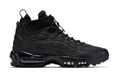 A First Look at the Nike Air Max 95 Sneakerboot: Nike unveils an ACG-like iteration of the iconic Nike Shoes Cheap, Nike Free Shoes, Nike Shoes Outlet, Running Shoes Nike, Cheap Nike, Nike Air Max, Air Max 95, Air Max Sneakers, All Black Sneakers