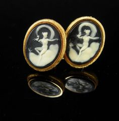 These beautifully carved incolay nude nude cufflinks are quite exquisite and well made . And remember, a personal well thought out gift shows