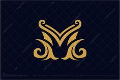 Logo for sale: Letter M Logo by logosaida, uploaded on Minimalist elegant Letter M logo design, perfect for Real estate, beauty salon and many creative business company. S Logo Design, Luxury Logo Design, Lettering Design, Graphic Design, M Letter Design, Tailor Logo, Letter M Logo, Book Logo, Typographic Logo