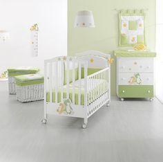 Erbesi Serie Lilo & Giò für ein stylishes Kinderzimmer in weiß und grün