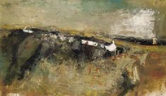 Joan Kathleen Harding Eardley, R. , Cottages at Catterline Pastel Landscape, Abstract Landscape Painting, City Landscape, Seascape Paintings, Winter Landscape, Watercolor Landscape, Landscape Paintings, Environment Painting, Abstract City