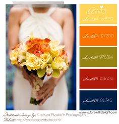 Yellow, orange, green, red and blue #Wedding color Inspiration!  ..so nice for fall!