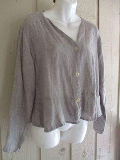 vintage FLAX Engelhart market jacket S 46B #FLAXJeanneEngelhart #artsybohofunkylagenlook