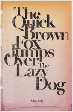 The overlapping and interweaving type brings to life the action of the fox jumping over the dog and gives this famous phrase a point of difference