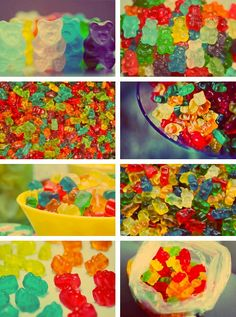 This just makes me think of my little man Justin...he loves his gummy bears!!!
