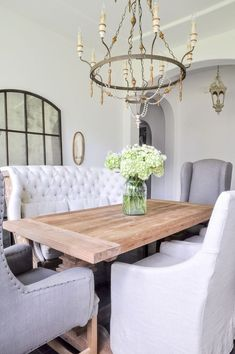 Dining Room Farm Table Three Seating Styles Diningroom Diningroomupdate Diningroommakeover Banquette