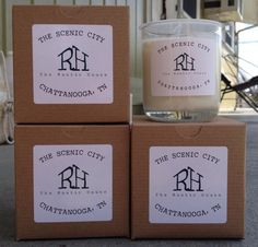 The Rustic House is a soy candle company, based in Chattanooga Tennessee, which specializes in highly scented, natural candles. http://www.elerese.com/shop/locally-featured.html