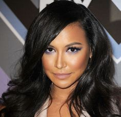 Naya Rivera's purple eyes. love the make up and glee