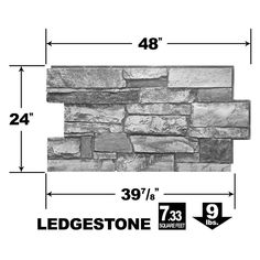 Urestone Ledgestone Desert Tan 24 in. x 48 in. Stone Veneer Panel - - The Home Depot Stone Veneer Panels, Faux Stone Panels, Stone Accent Walls, Stone Walls, Build A Fireplace, Shower Installation, Metal Shed, Stone Facade, Stone Siding