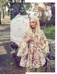 Elle France 20th June 2014 Photo: Gemma Booth Model: Maud Welzen Stylist: Chloe Dugast Hair: Perrine Rougemont Make-up: Eny Whitehead FloralDolce & Gabbana dress in … Read More