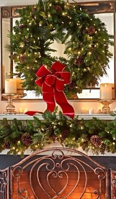 Christmas Fireplace, Christmas Mantels, Cozy Christmas, A Christmas Story, Beautiful Christmas, All Things Christmas, Christmas Stockings, Christmas Holidays, Christmas Wreaths