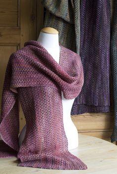 Beautiful linen stitch wrap from Churchmouse Yarn & Teas