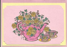 Tea for Two Note Card by inkieannie on Etsy, $3.75