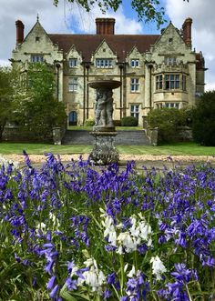 ENGLISH COUNTRYSIDE // Bluebells and front lawn views at Balcombe Place.