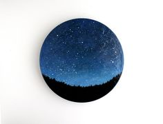 Night Sky Oil Painting by TreeHollowDesigns on Etsy, $65.00