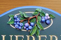 Blueberry Property Sign Detail / Danthonia Designs