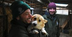 Mission: A HSI team member carries a corgi from a cage to a crate so it can be taken away from the squalid meat and puppy farm Shih Tzus, Airline Pet Carrier, Husky, Puppy Care, Farm Hero Saga, Pet Carriers, Dog Crate, Dog Owners, Rescue Dogs
