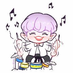 Chanyeol Baekhyun Fanart, Kpop Fanart, Suho, Park Chanyeol, Exo Ot12, Exo Kokobop, Kpop Exo, Exo Cartoon, Exo Stickers