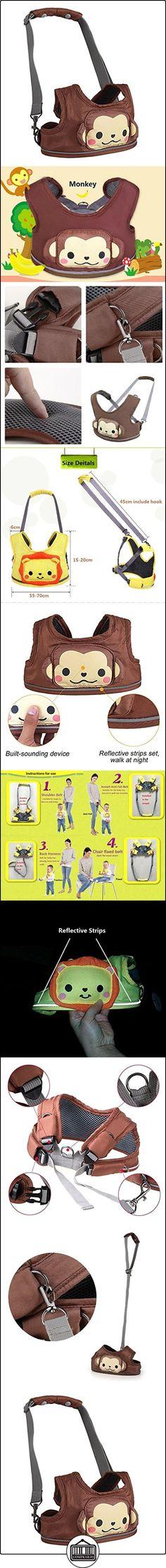 Arnés de seguridad para bebés - Animal de dibujos animados Arnés de seguridad para niños pequeños con tiras reflectantes, 3 en 1, la opción preferida de mamá  ✿ Seguridad para tu bebé - (Protege a tus hijos) ✿ ▬► Ver oferta: http://comprar.io/goto/B01N7CHLHQ