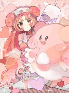 Humanized Blissey with another Blissey