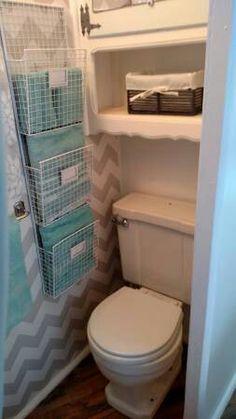 1000 ideas about camper renovation on pinterest pop up for Rv bathroom wallpaper