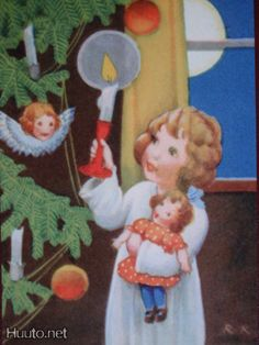 Rudolf Koivu Swedish Christmas, Old Christmas, Merry Little Christmas, Scandinavian Christmas, Christmas Wrapping, Country Christmas, Vintage Christmas, Xmas, Vintage Children's Books