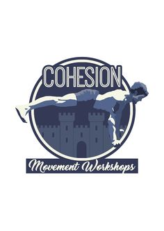 By Emma Ralph. Logo design for Crossfit company movement workshops, Cohesion. Fitness, blanche, animation,York, Castle, wall.