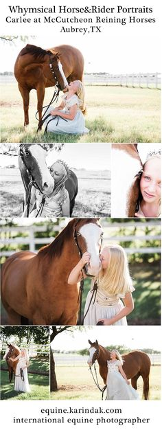Carlee of McCutcheon Reining Horses Whimsical Horse & Rider Pictures in Aubrey,TX with Equine Photographer Karinda K. Children's portraits with Joyfolie Ophelia Dress.