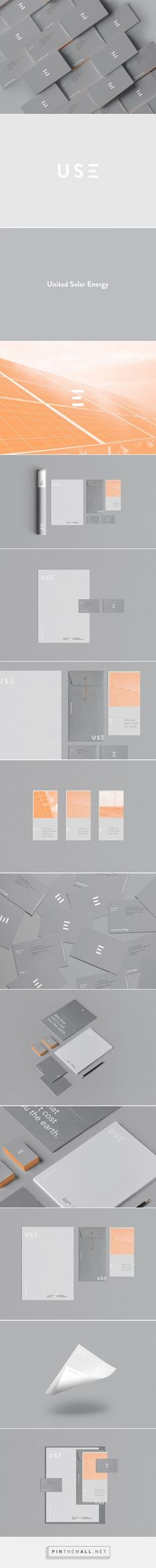 (60) U-S-E on Behance | Identity | Pinterest / Brand Identity / Branding / Brand / Design / Ideas / Inspiration / Business Cards / Solar Energy / Grey / Minimal Logo / Minimalist / Corporate / Unique / Energy Logo / Modern / Flyer / Environmental