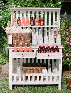 Display idea...when selling refreshments at a craft show, maybe