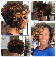 curly crochet bob - Google Search