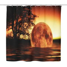 Sunset On The Water Shower Curtain
