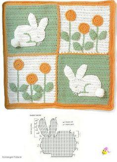 Crochet Bunny Rabbit Applique Pattern