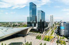 Het centrum district in Rotterdam