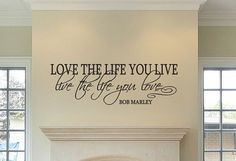 Love The Life You Live... Bob Marley Vinyl by TheDecalBoutique, $14.99