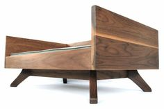 Modern Wood Dog Bed The Joey High Back Bed by EATSLEEPFETCH