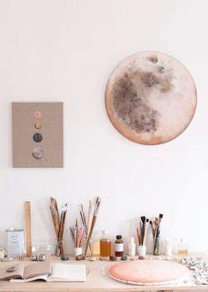 stella marie baer's art studio | moon trends via coco+kelley