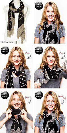 Mirame & Vestite: Cómo usar: chalinas y bufandas